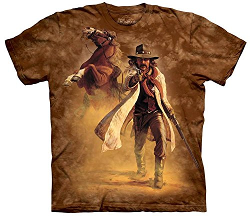 The Mountain Herren Western-Sheriff T-Shirt - Braun - Klein -