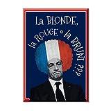 Toile peinture cadre d'impression numerique parodie Nicolas Sarkozy politique president France 100x70 cm