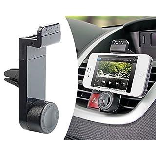 MMOBIEL Universal Handy Halterung 360° für Smartphone Handyhalter KFZ Auto Lüftung Klimaanlage Schwarz für iPhone Samsung Sony HTC Nokia LG Huawei Xiaomi Tablet u.v.m.