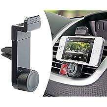 Soporte de coche/auto para IPHONE 4 4S 5 5S 5C 6 6S Plus 7 7 Plus, Samsung Galaxy S3 S4 S5 S6 Note 2 3 4 5 Sony Xperia Z Z1 Z2 LG Huawei Xiaomi, tablets mini y otros teléfonos. Color negro y con visualización de 360°. MMOBIEL