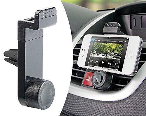Universal Handy Halterung 360° für Smartphone Handyhalter KFZ Auto Lüftung Klimaanlage Schwarz für iPhone / Samsung Galaxy / NOTE / Sony Xperia / HTC / Nokia / LG / Huawei / Xiaomi Mini Tablet u.v.m. MMOBIEL