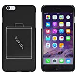 Azeeda Schwarz 'Batterie' Hülle für iPhone 6 Plus & 6s Plus (MC00128911)