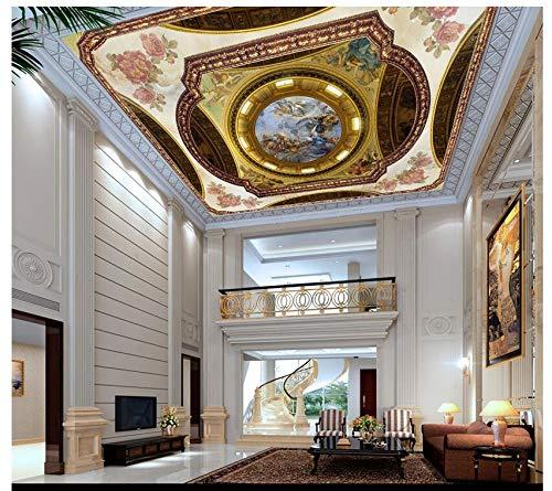 3D Hintergrundbild Wallpaper Wandbild Seidenstoff Deckengemälde Im Europäischen Rokoko-Stil...