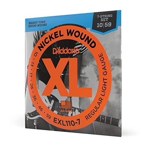 D'Addario EXL110-7 Satz E-Gitarren-Saiten 010' - 059'