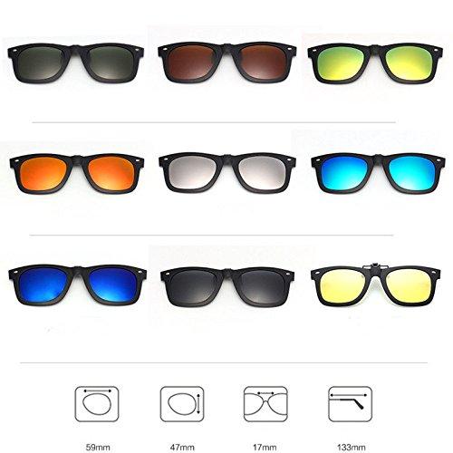nuovo prodotto 71948 9055c Aptoco, lenti da sole a clip per occhiali, polarizzate e a ...