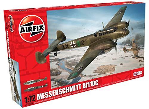 Airfix Kit de modelismo, avión Messerschmitt Bf110C/D (Hornby A03080A)
