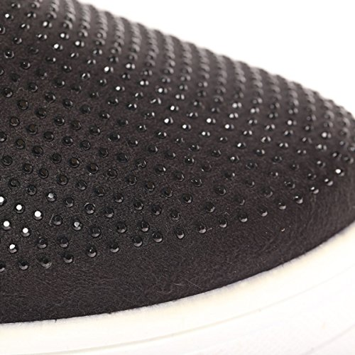 La Modeuse - Baskets de type slip-on à plateforme Noir