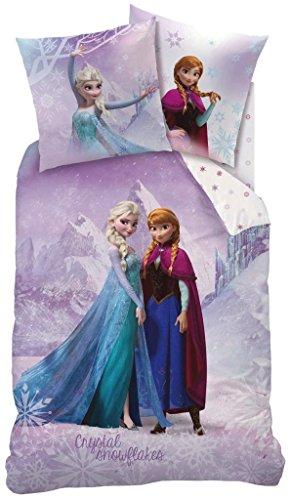 Frozen-Funda de edredón (140x 200) + funda de almohada (63x 63)-Juego de cama Frozen Pink