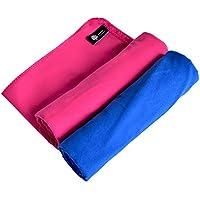 XL 2pezzi, Yazer Sport asciugamano–asciugamano da viaggio e Super Assorbente E Ad Asciugatura Rapida.Per campeggio, spiaggia, piscina, in palestra o il bagno e più interni ed esterni Blue and Pink