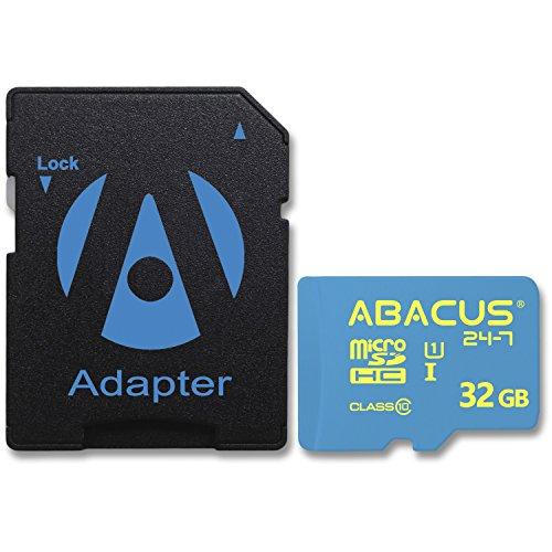 Abacus24-7 32GB microSD Speicherkarte UHS-I Class 10 für Nintendo Switch, Samsung Galaxy J3,J5,J7,A5,A3,S7,S8,S9 Huawei P8 P9 P10 lite, Honor 6X 7X, Mate 10 & P20 Pro/Lite