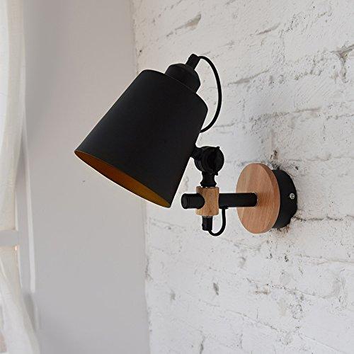 KMYX Ajustable Vintage Metal lámpara de Pared país Americano lámpara de cabecera...