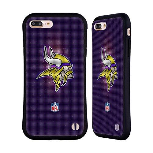 Ufficiale NFL LED 2017/18 Minnesota Vikings Case Ibrida per Apple iPhone 7 Plus / 8 Plus LED