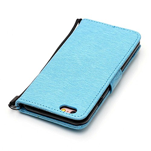Cover iPhone 6 6s, Sportfun Custodia Portafoglio In Pelle Con Wallet Case Cover Per iPhone 6 6s con Porta Carte e Funzione Stand (01) 04