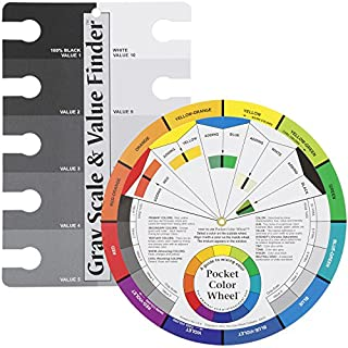 Color Wheel Pocket Guide with Gray Scale Value Finder - for both the amateur and professional artists