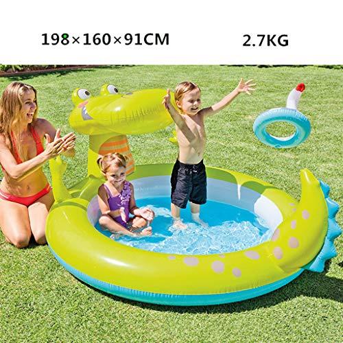 Modelli di dinosauro per bambini piscina gonfiabile, spruzzo d'acqua per la casa del bambino piscina per bambini gioco piscina ispessimento piscina sovradimensionata