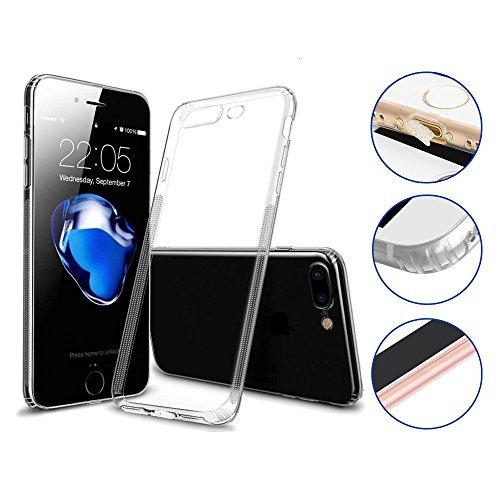 Premium Schutzhülle iPhone 7 Plus iPhone 8 Plus Transparent Durchsichtig - Viele Vorteile – TPU Silikon Hülle Apple iPhone 7/8 Plus - Cover Case Bumper mit Staubschutz