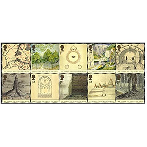 Lord of the Ring Stamps for Postage - 10 x Royal Mail 1st Class Stamps. 2004 Lord of the Rings stamps featuring places and characters from the Books by Royal Mail Stamps