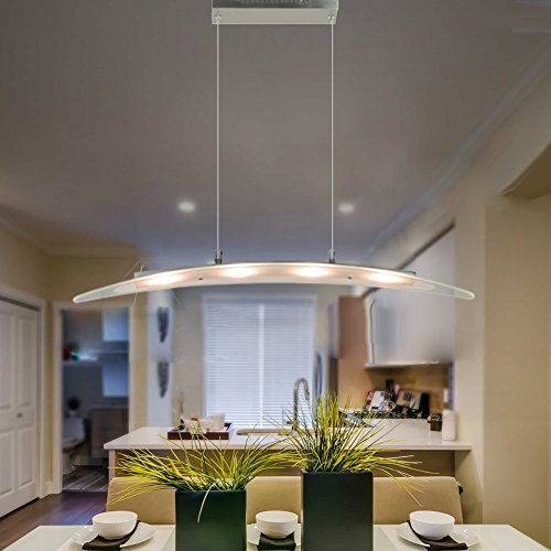 FOSHAN MINGZE Led Ceiling Light Modern With Ajustable CableSatin Nickel Finished Hanging Glass Pendant Chandelier For Kitchen Dining Room Living