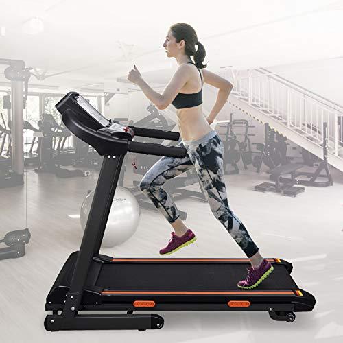 yorten Elektrisches Laufband Klappbar 1,5 HP mit LCD-Bildschirm Elektro-Laufband mit R/ädern 154 x 71 x 129 cm Belastung 150 kg 12 Voreingestellten Workout-Programmen