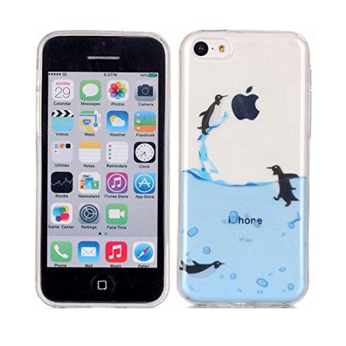 iPhone 5C Custodia,iPhone 5C Case,Patate piuma Custodia in TPU Gel Ultra sottile [Trasparente] Custodia protettiva in gomma flessibile case cover para for iPhone 5C colour 11