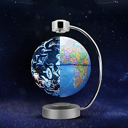 WANNA.ME Magnetschwebebahn Rotierende Sternbildkugel 8 \'Beleuchtete Weltkugel Nachtsicht Sterne Rotierende Astronomie Geographische Karte Interaktives Pädagogisches Geschenk für Kinder