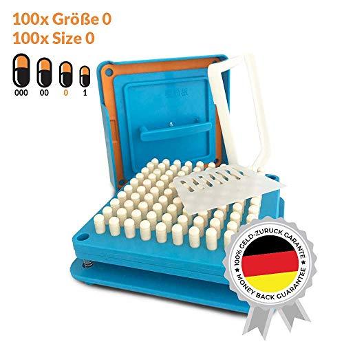 Kapselfüller   Platz für 100 Kapseln   Größe 0   Kapselfüllgerät zum befüllen von Kapseln