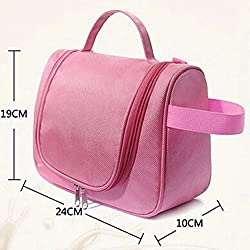 Travel Cosmetic Hanging Bag Organizer for Toiletry Shave Make Up Kit pouch�BABY PINK