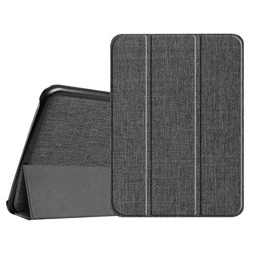 Fintie Hülle für Samsung Galaxy Tab 4 10.1 SM-T530 SM-T535 - Ultra Schlank Superleicht Ständer SlimShell Cover Schutzhülle Etui Tasche mit Auto Schlaf/Wach Funktion, Denim dunkelgrau (Samsung Tab 4 Cover Fintie)