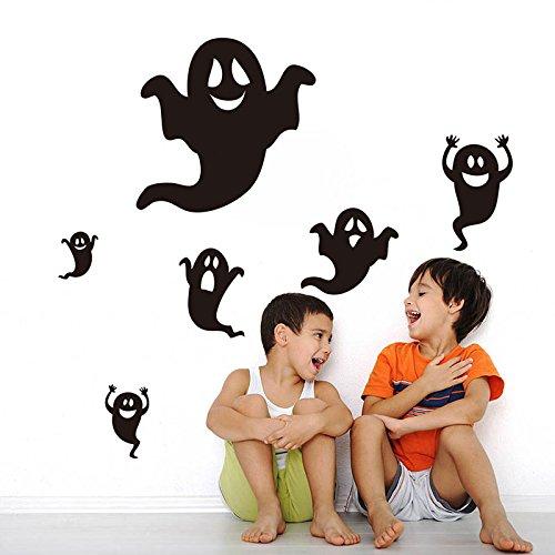 Kicode Halloween Hallowmas Kinderzimmer Schlafzimmer Vinyl Kunst abnehmbar Wandaufkleber Aufkleber Kinder Wohnzimmer Dekor PVC