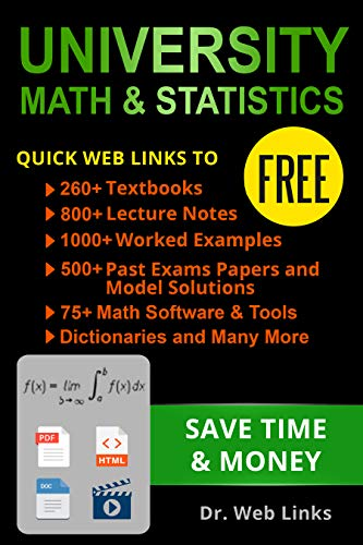 University Math and Statistics: Quick Web Links to FREE 260+ ...