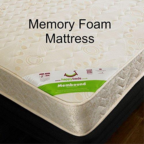 Happy Beds Stella Cabin Bed Low Sleeper White Storage Kids Memory Foam Mattress 3' Single 90 x 190 cm