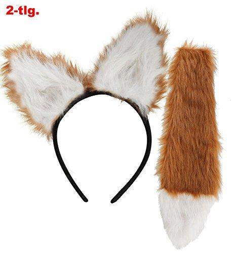 - Fuchs Ohren Und Schwanz Set