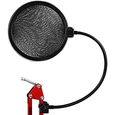 joymod Flessibile microfono Studio Vento schermo Pop Filter Mask Shield per Broadcasting registrazione microfono microfono con design accessori