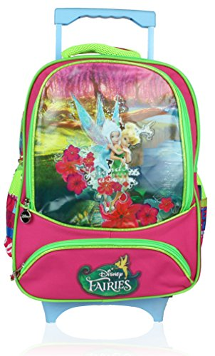 Disney School Convertable Trolley Bag For Girls 07+ Years Faries 24 (L) Pink (Convertible) (AT-0018)