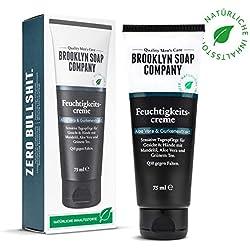 crema de día vegana i anti-arrugas, crema del rostro con Q10 ✔ The Cream (75 ml) cosméticos naturales de BROOKLYN SOAP COMPANY ® ✔ idea de regalo como un regalo para los hombres