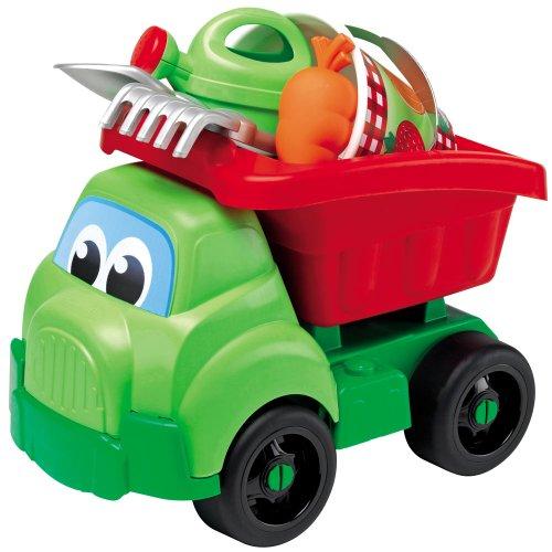 Hummelladen || Gärtner LKW mit Eimergarnitur inkl. Schaufel, Rechen, Gieskanne und Sandfürmen || Spielzeug Kipper 41 groß Truck Sandspielzeug Spielzeugautos Sandeimer Eimer (Lkw-schaufel)
