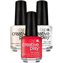 CND Creative Play Coral Me Later Nr. 410 13,5 ml mit Creative Play Base Coat 13,5 ml und Top Coat 13,5 ml, 1er Pack (1 x 0.041 l)