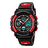Kids Student Outdoor Waterproof Sports Watches LED Digital Analog Quartz Dual Time Zones