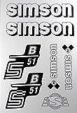 Aufkleber-Set Simson S51B weiß Seitendeckel Tank BJ-Handel