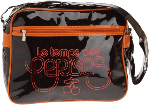 Le Temps des Cerises Rumba Bi-Color 1, Borsa a tracolla donna Multicolore (Noir/Orange)