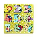Vovotrade Juguetes de madera 16 piezas Jigsaw para niños Educación y aprendizaje Puzzles Juguetes (B)