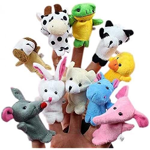 munecos dia madre kawaii 10pcs Juguetes Marionetas Animales de Dedos Finger Títeres Muñecos Divertido Kawaii para Bebé Niños