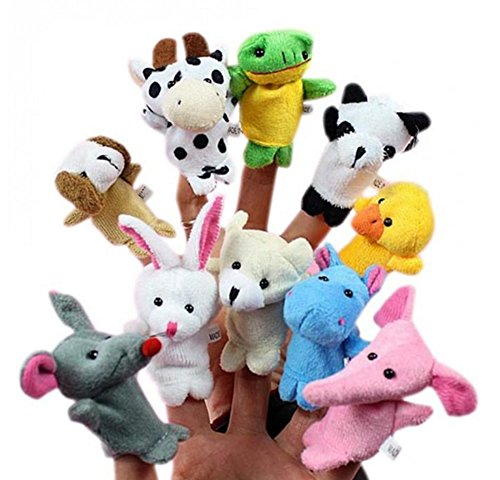 10pcs Juguetes Marionetas Animales de Dedos Finger Títeres Muñecos Divertido Kawaii para Bebé Niños