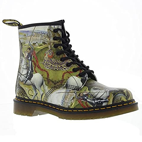 Dr.Martens Womens 1460 8-Eyelet George and Dragon Backhand Multi Leather Boots 42 EU
