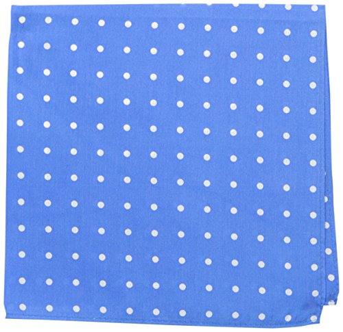 Tommy Hilfiger Men's Open Dot Pocket Square, Medium Blue, One Size -