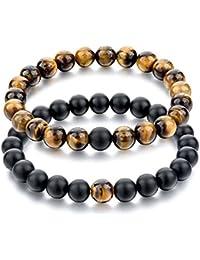 MJARTORIA 2PCS 4PCS Homme Femme Bracelet de Main Bouddhiste Perle Pierre  d Energie Protection 9c3e358f844