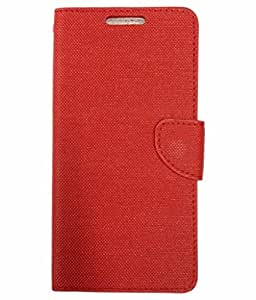 ZYNK CASE FLIP COVER FOR LAVA A68-RED