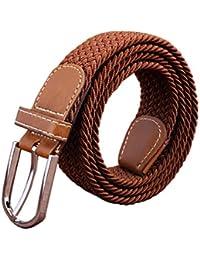 Unisex Cinturón Trenzado,Feicuan Hombre Mujer Correa Cinturones elástico tejido Fabric Stretch Belt