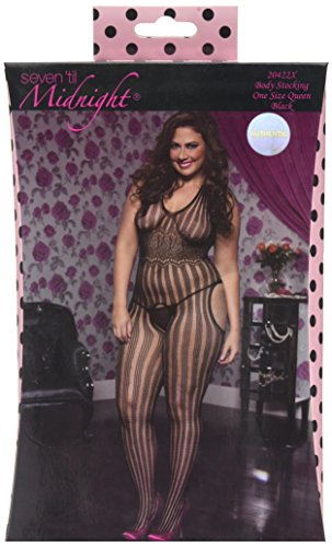 Queen-size Bodystockings (Seven Til Midnight gestreifte Bodystocking mit Spitze (Queen Size))