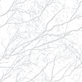Wood 9713 / Decorama 4104 Vliestapete Astwerk Baum Hellgrau Weiß